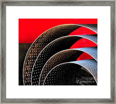 Tin Abstract Framed Print