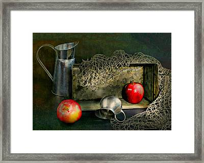 Tin Apples Framed Print by Diana Angstadt