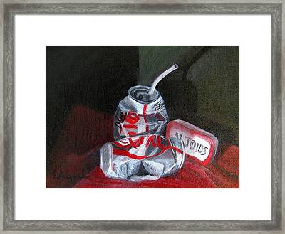 Tin Cans Framed Print by LaVonne Hand
