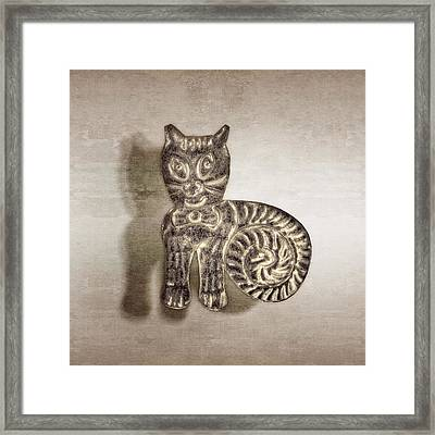 Tin Cat Framed Print