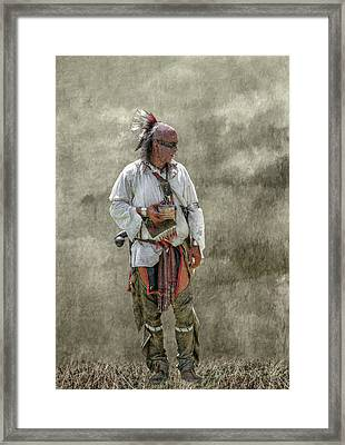 Tin Cup Of Cool Water Framed Print by Randy Steele