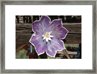 Tin Flower Framed Print