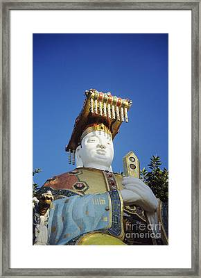 Tin Hua Temple Colorful Statue Framed Print by Gloria and Richard Maschmeyer - Printscapes