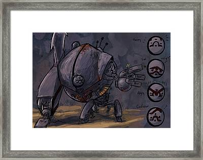 Tin Man Framed Print by Jamie Lindenmeier
