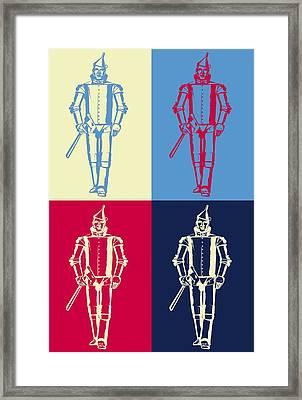 Tin Man Pop Art Poster Framed Print