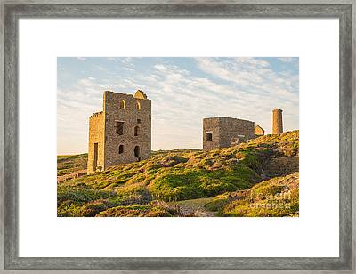 Tin Mine At St. Agnes, Cornwall, England Framed Print