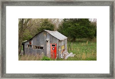Tin Phillips 66 Shed Framed Print by Grant Groberg