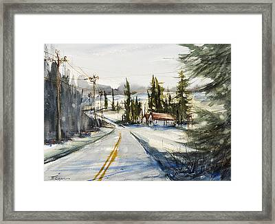 Tin Roof Rusted Framed Print by Judith Levins