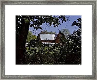Tin Roofed Barn Framed Print by Richard Gregurich