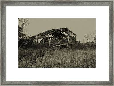 Tin Shack Framed Print by Gregory Letts