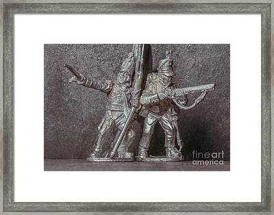 Tin Soldiers The Charge Framed Print by Randy Steele