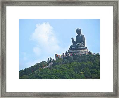 Tin Tan Buddha In Hong Kong Framed Print