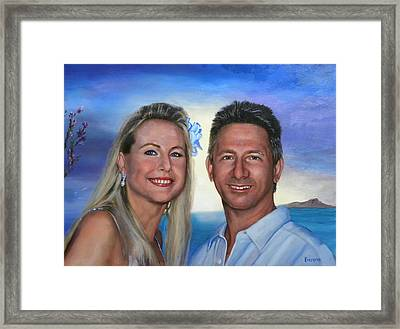Tina And Tom Framed Print