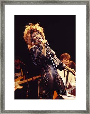Tina Turner 1984 Framed Print