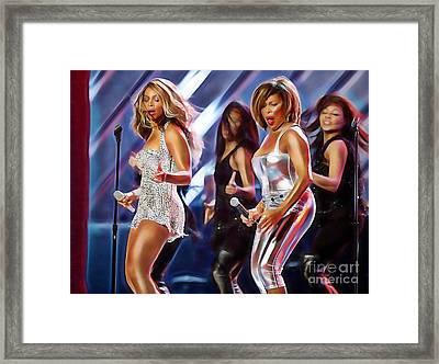 Tina Turner And Beyonce Collection Framed Print