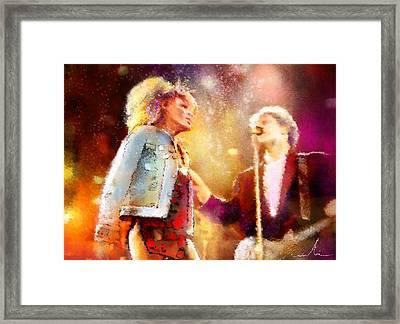 Tina Turner And Bryan Adams Framed Print