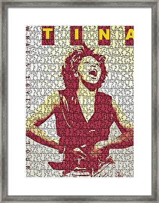Tina Turner - Digital Graphic Poster Framed Print by Ian Gledhill