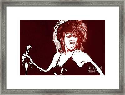 Tina Turner - Pop Art - Digital Art Framed Print
