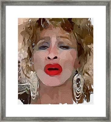 Tina Turner Private Dancer Framed Print