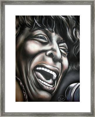 Tina Turner Framed Print by Zach Zwagil