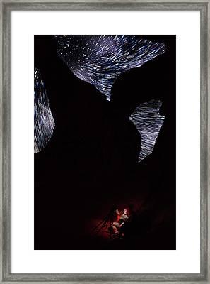 Tina's Star Trail Vortex View Framed Print