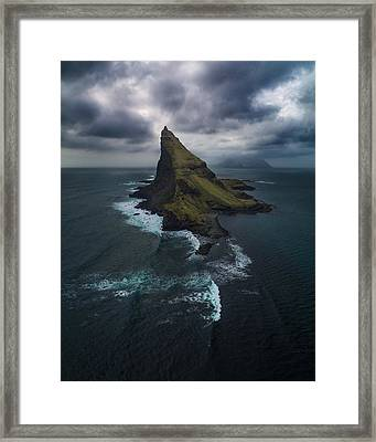Tindholmur Aerial Framed Print