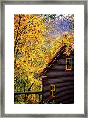 Tingler's Mill In Fall Framed Print