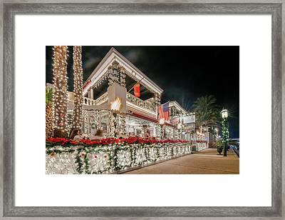 Tini Martini Bar During Nights Of Lights Framed Print