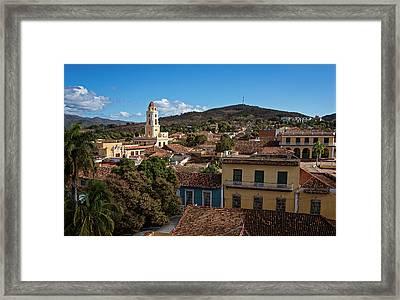 Trinidad Cuba Cityscape Framed Print by Joan Carroll