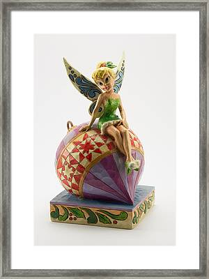 Tink On An Ornament Framed Print by Greg Thiemeyer