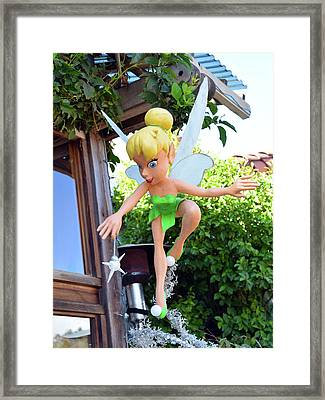 Tinker Bell At Robins In Cambria California Detail Framed Print by Barbara Snyder