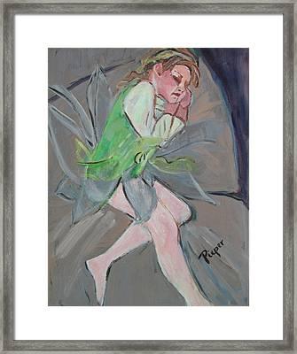 Tinker Belle Framed Print by Betty Pieper