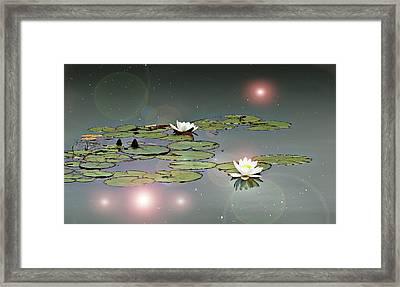Tinker Bell's Pond Framed Print by John Christopher