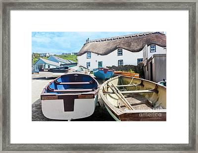 Tinker Taylor Cottage Sennen Cove Cornwall Framed Print