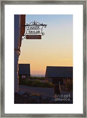 Tinker Taylor Sign Framed Print by Terri Waters