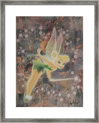 Tinkerbell Framed Print by Stapler-Kozek