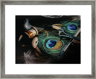Tinsel Rust Nymph Framed Print
