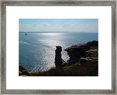 Tintagel Stack Cornwall Framed Print