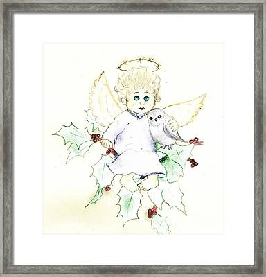 Tinted Little Angel Framed Print by Sonya Chalmers