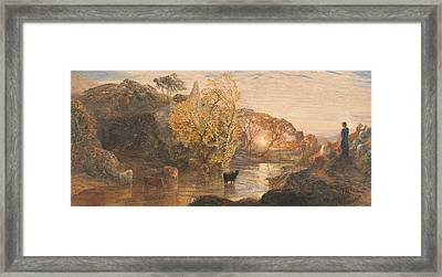 Tintern Abbey At Sunset Framed Print by Samuel Palmer