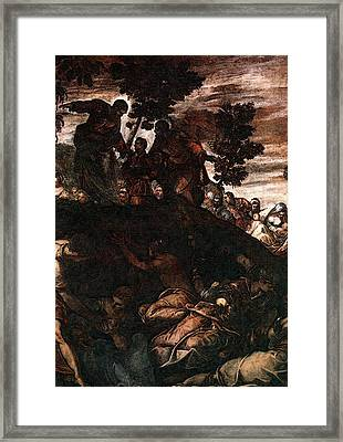 Tintoretto The Miracle Of The Loaves And Fishes Framed Print by Jacopo Robusti Tintoretto