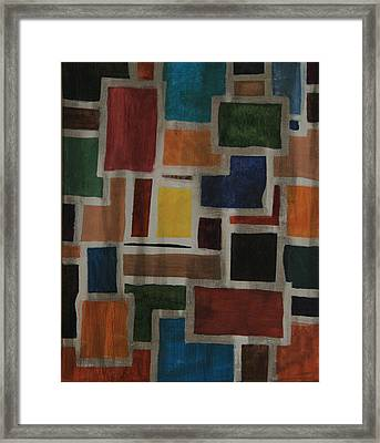 Tiny Boxes Framed Print by Karen Fowler