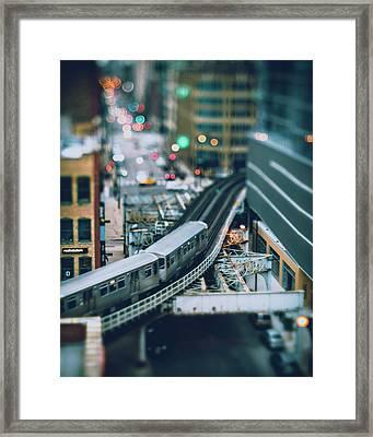 Tiny Chicago Framed Print