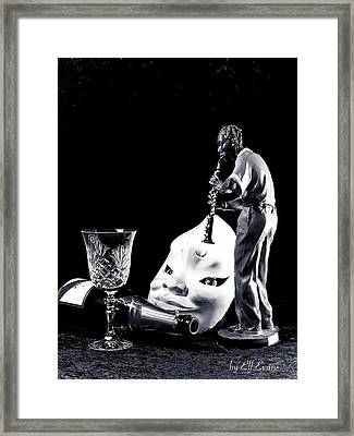 Framed Print featuring the photograph Tiny Desk Concert by Elf Evans