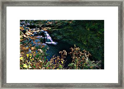 Framed Print featuring the photograph Water Falls by Raymond Earley