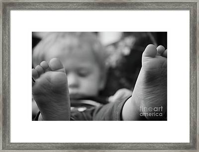 Framed Print featuring the photograph Tiny Feet by Robert Meanor
