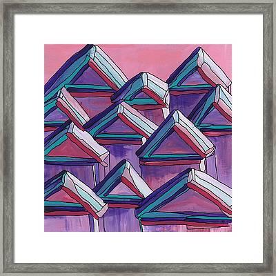 Tiny Houses Framed Print by Barbara St Jean