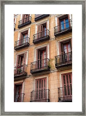 Tiny Iron Balconies Framed Print