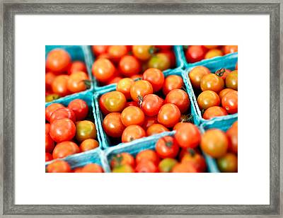 Tiny Little Red Tomatoes Framed Print by Todd Klassy
