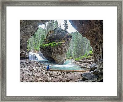 Tiny People Big World Framed Print